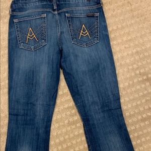 "7 for all mankind ""A"" pocket boot cut 30 x30"